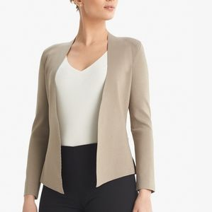 New Mm. LaFleur Woolf Jardigan Knit Jacket Taupe S